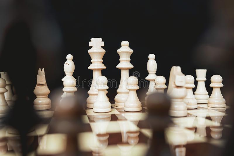 Concept for Challenge and Diversity with Chess Pieces royalty free stock image