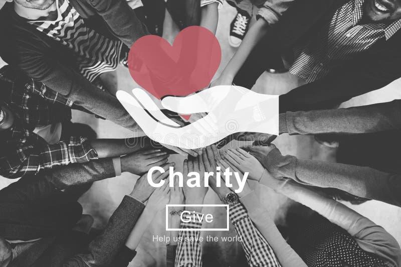 Concept charitable d'aide de donation de soutien de soulagement de charité illustration libre de droits