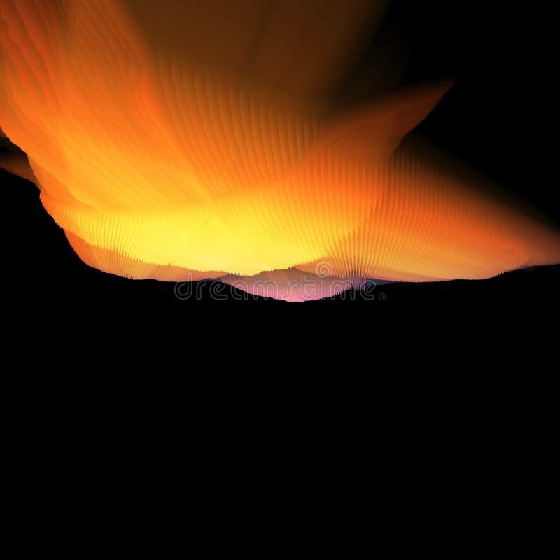 Concept chaud et frais de nuage illustration de vecteur