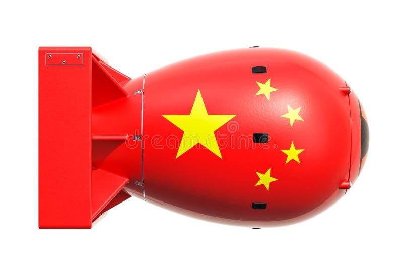Concept chinois d'arme nucléaire, rendu 3D illustration stock
