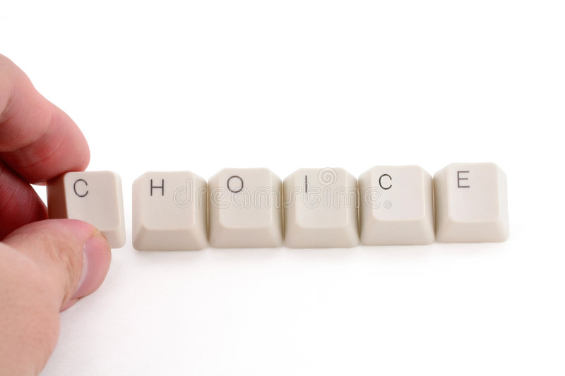 Concept of choice stock photography
