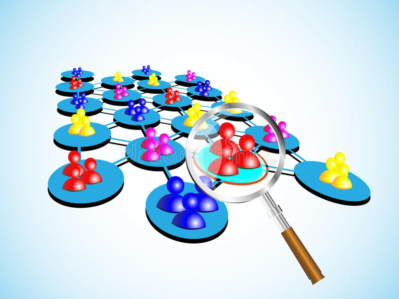 Download Concept Of Choosing A Success Team With Magnifier Stock Illustration - Image: 33610824