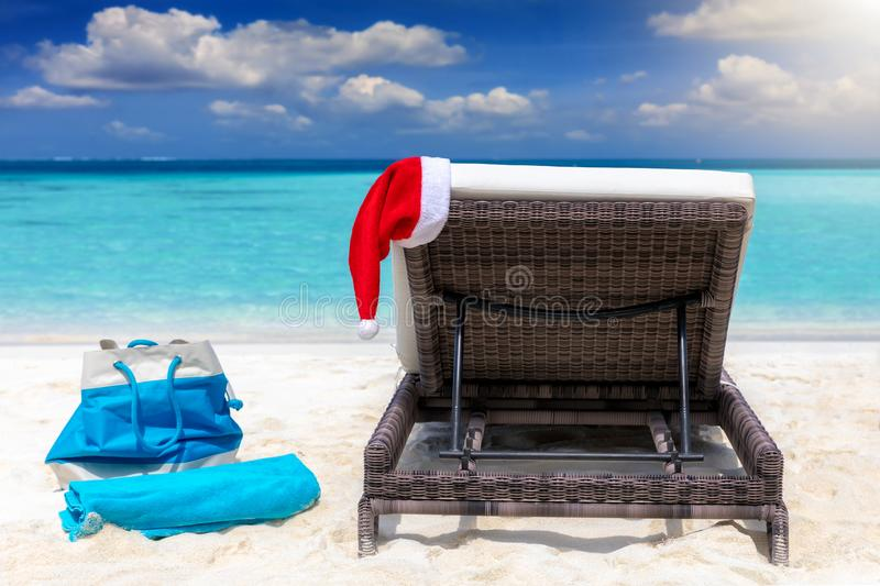 Concept of Christmas vacation in the tropics royalty free stock images