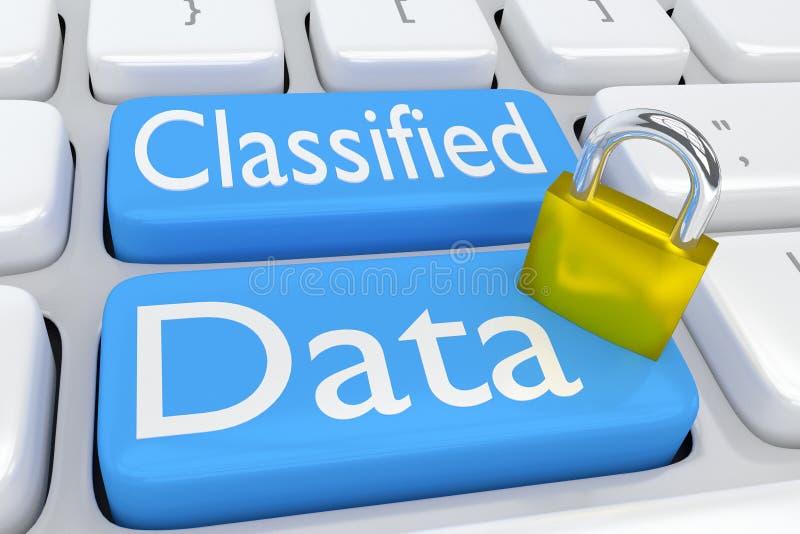 Concept classifié de données illustration stock