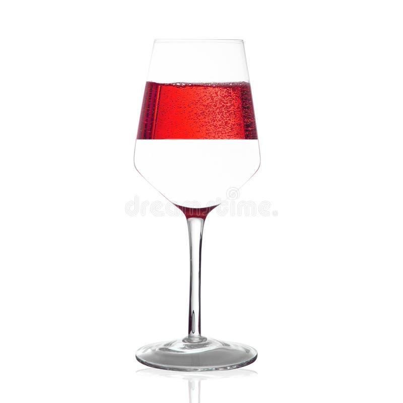 Concept classique du verre à moitié image libre de droits