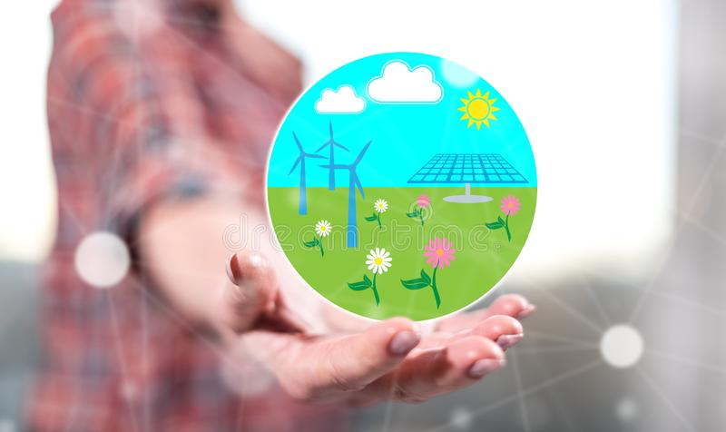 Concept of clean energy royalty free stock photos