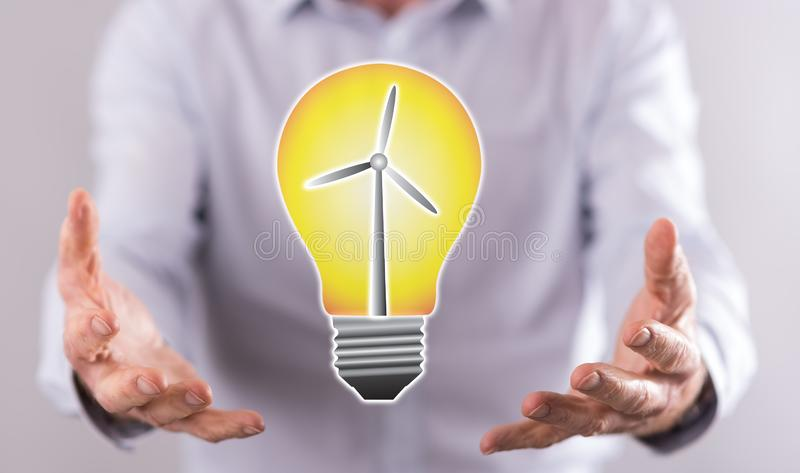 Concept of clean energy stock photography