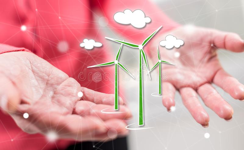 Concept of clean energy royalty free stock photography