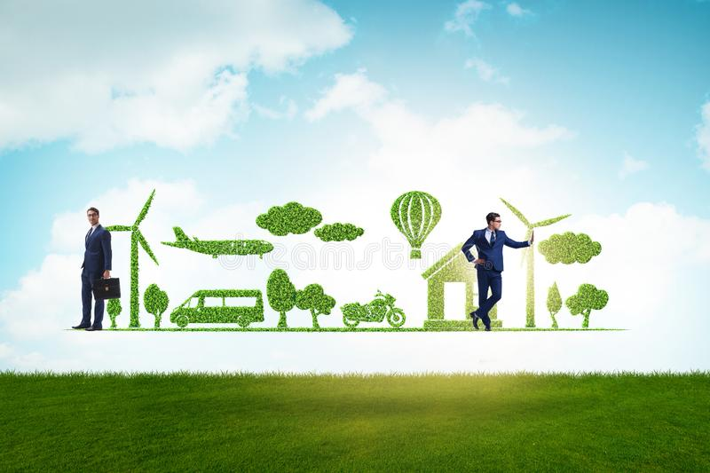The concept of clean energy and environmental protection royalty free stock images