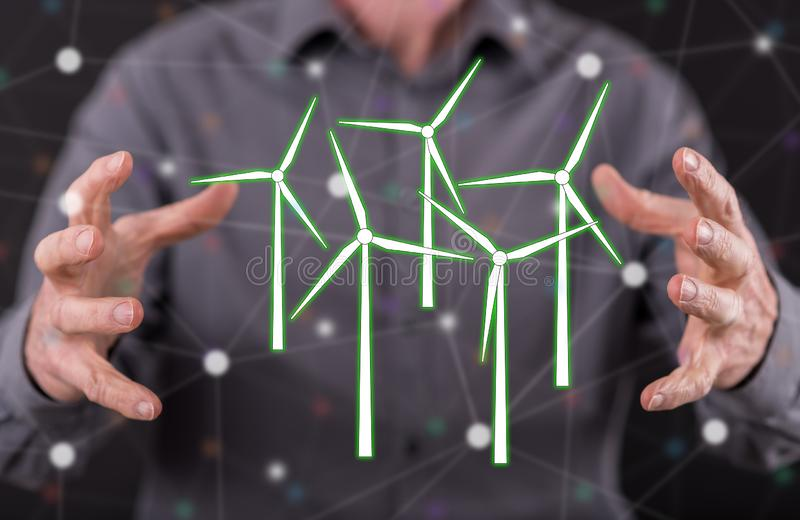 Concept of clean energy stock images