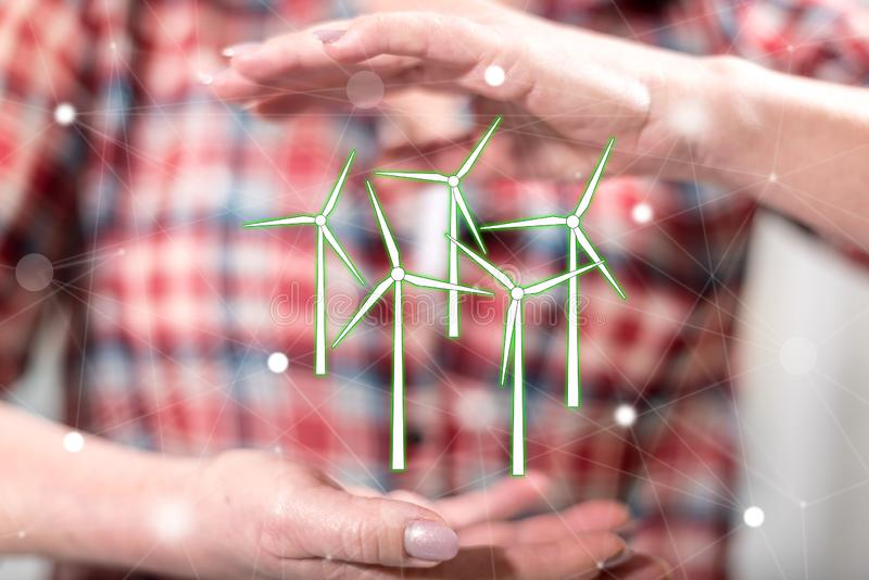 Concept of clean energy royalty free stock images