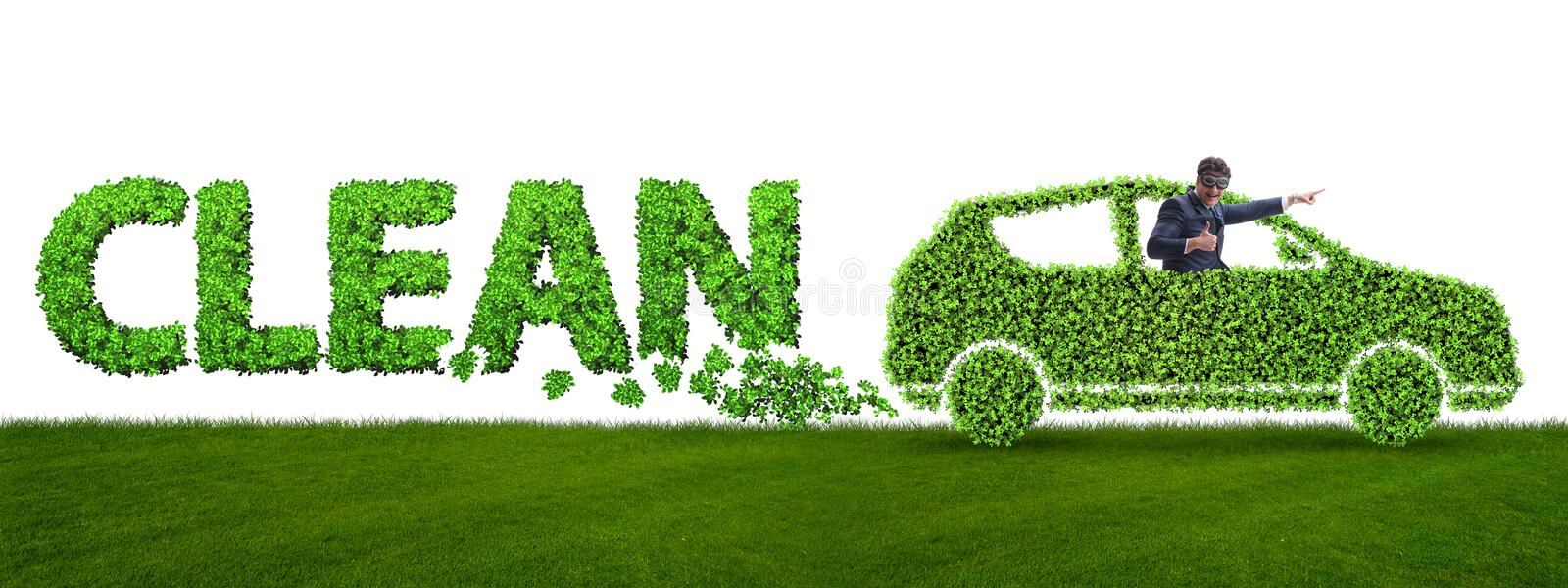 The concept of clean fuel and eco friendly cars stock images