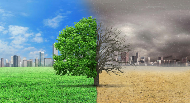 The concept of climate has changed. royalty free illustration