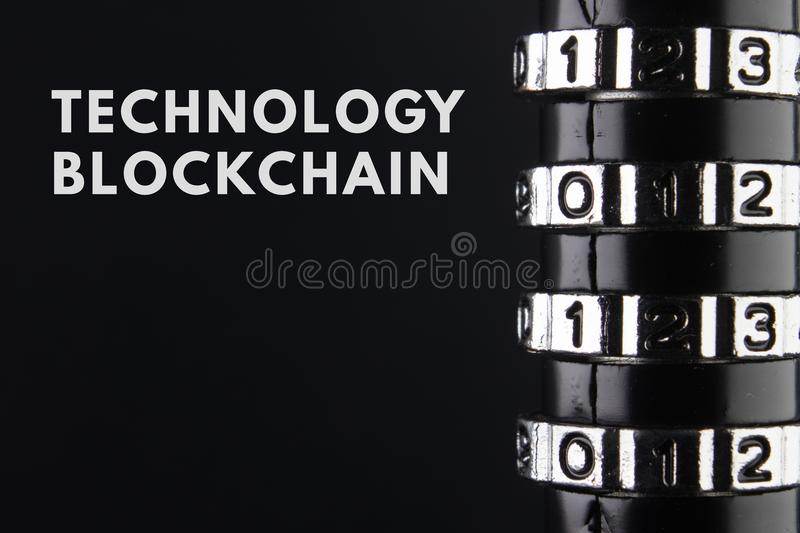 The concept of closure, protection. Technology blockchain, encryption of Internet traffic. royalty free stock image