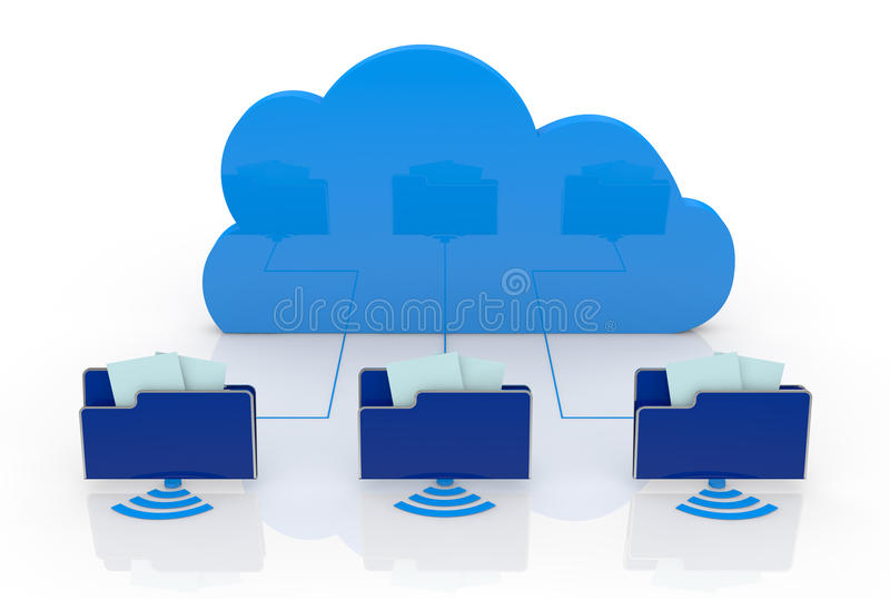 Download Concept of cloud computing stock illustration. Image of networking - 25802959