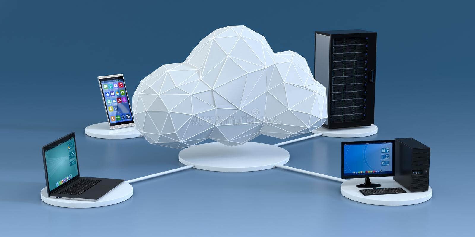 Concept of cloud computing vector illustration