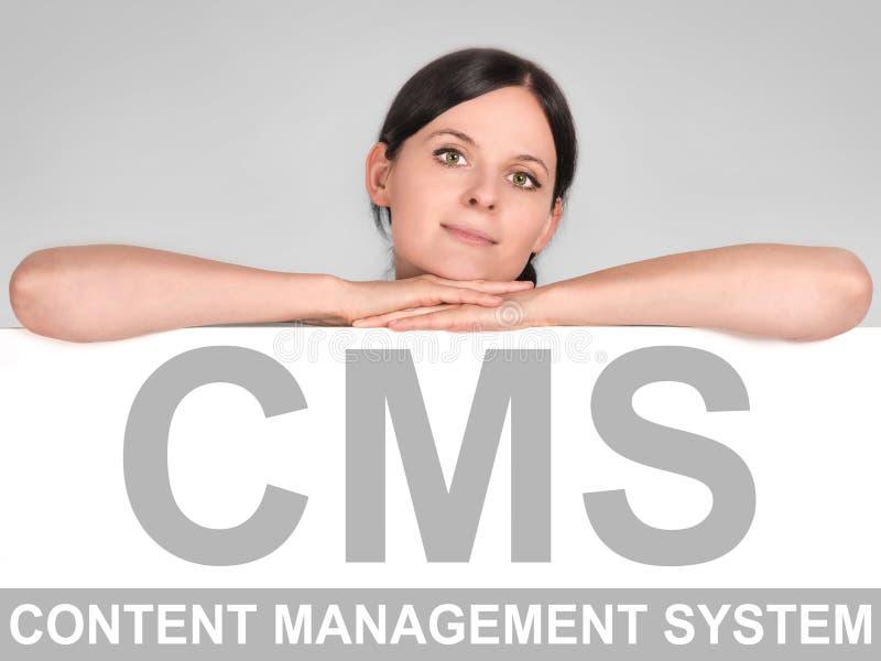 Concept CMS royalty-vrije stock foto