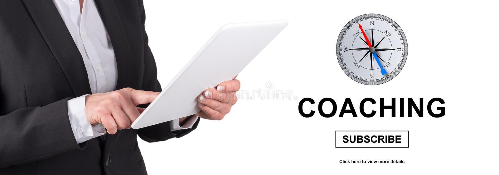 Concept of coaching royalty free stock images