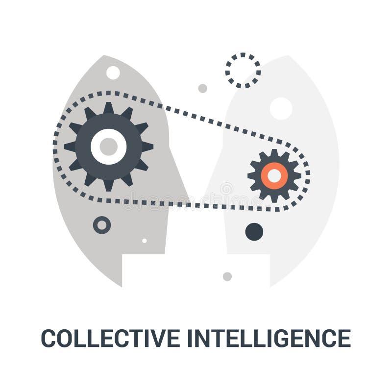 Concept collectif d'icône d'intelligence illustration libre de droits