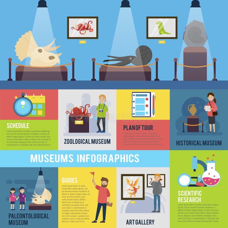 Concept coloré d'Infographic d'excursion illustration stock