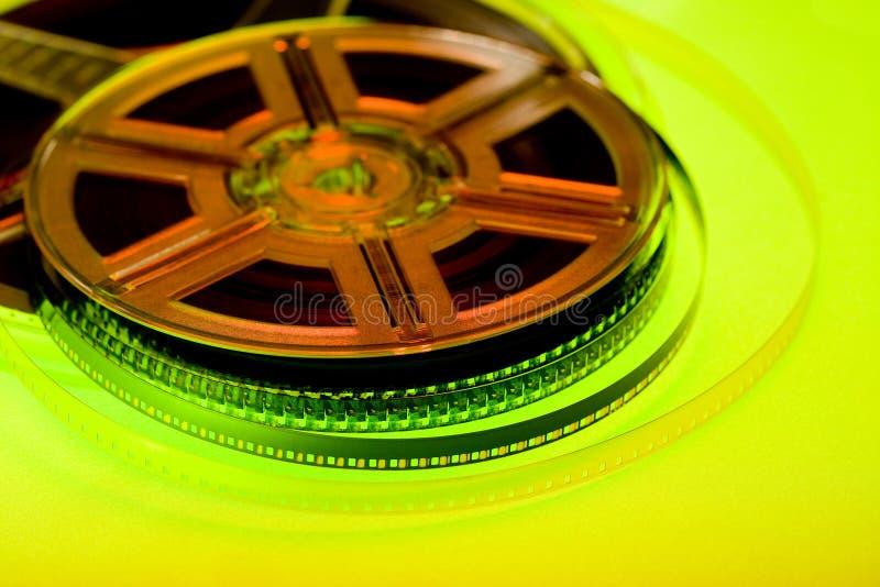 Concept coloré de bobine de film images stock