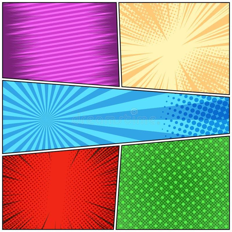 Concept coloré lumineux de bande dessinée illustration de vecteur