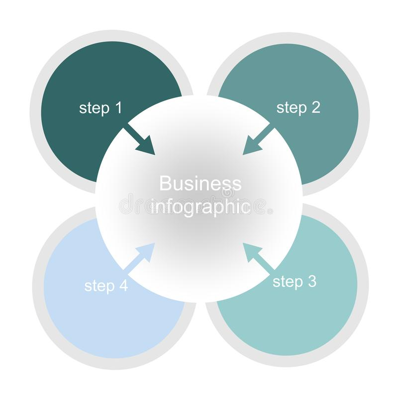 Chart design for business presentations with four steps. vector illustration