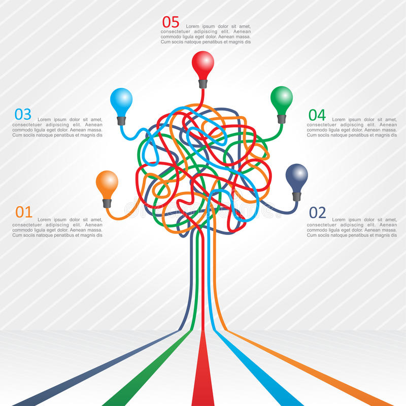 Concept of colorful tree for business design vector illustration