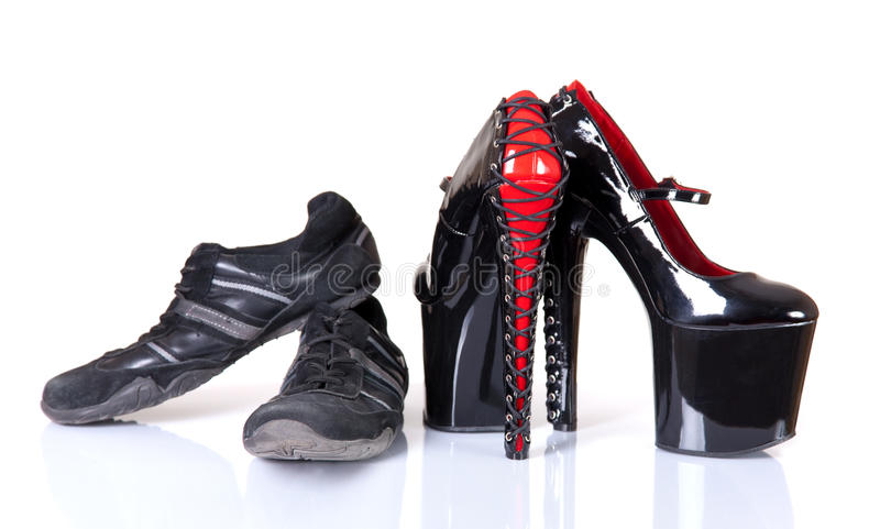 Download Concept Of Comfortable And Uncomfortable Footwear Stock Image - Image: 23148607