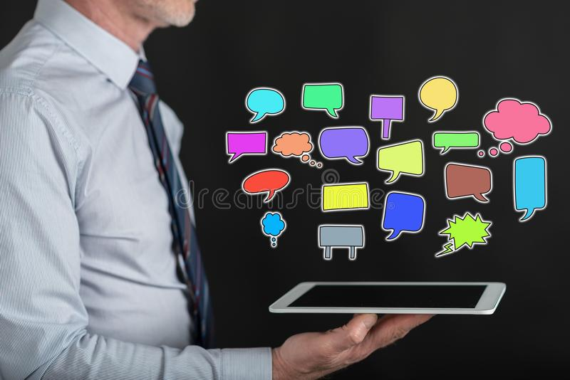 Concept of communication stock image