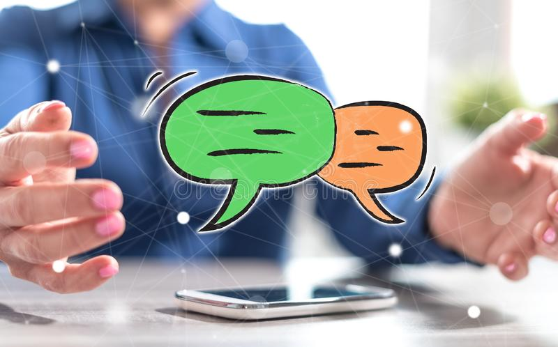 Concept of communication royalty free stock image