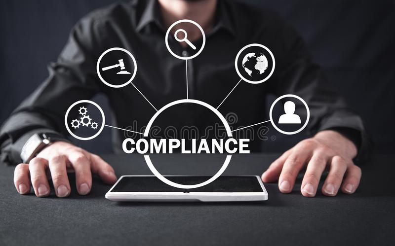 Concept Of Compliance. Business Concept stock photo