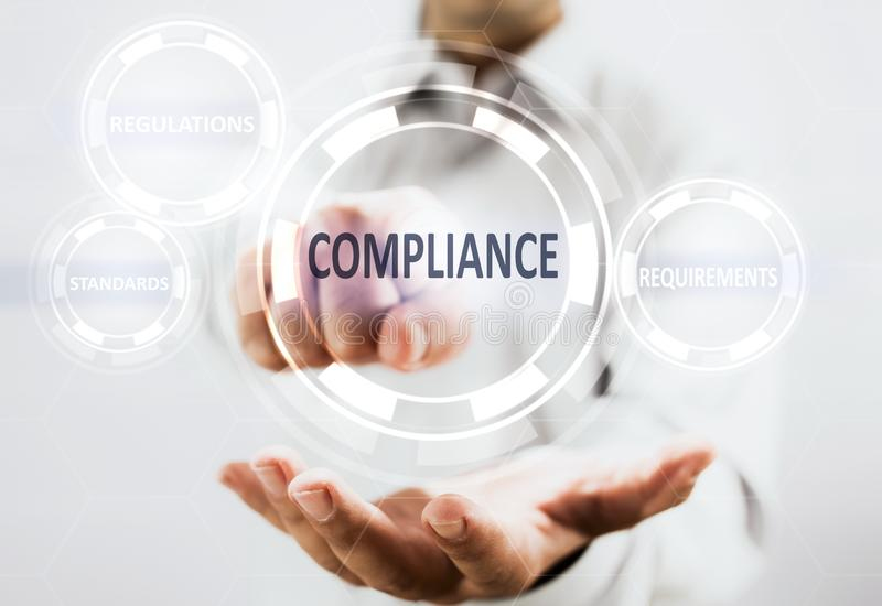 Concept For Compliance For Services stock photography