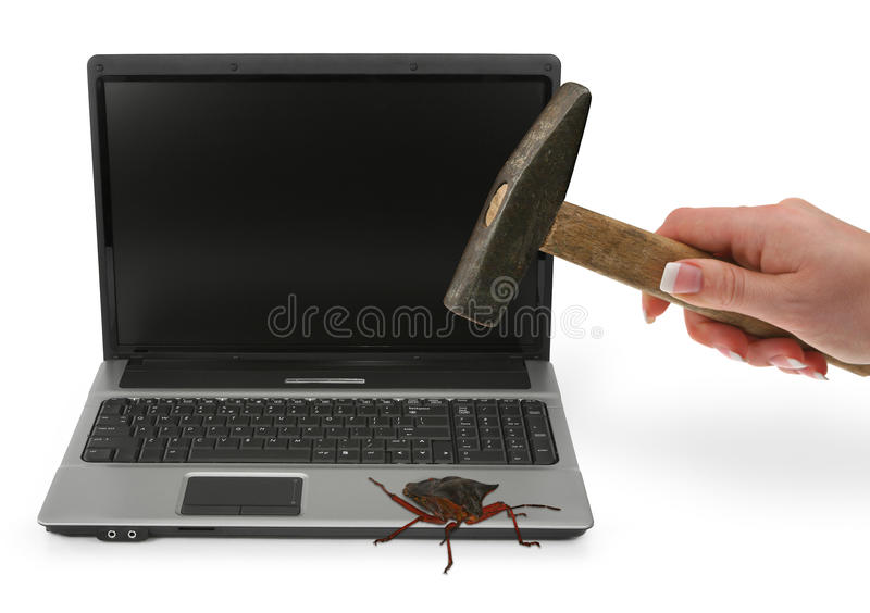 Concept Of Computer Bug Royalty Free Stock Image