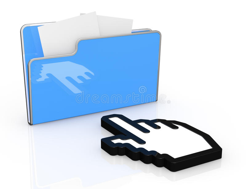 Download Concept of computer data stock illustration. Image of portfolio - 25802954