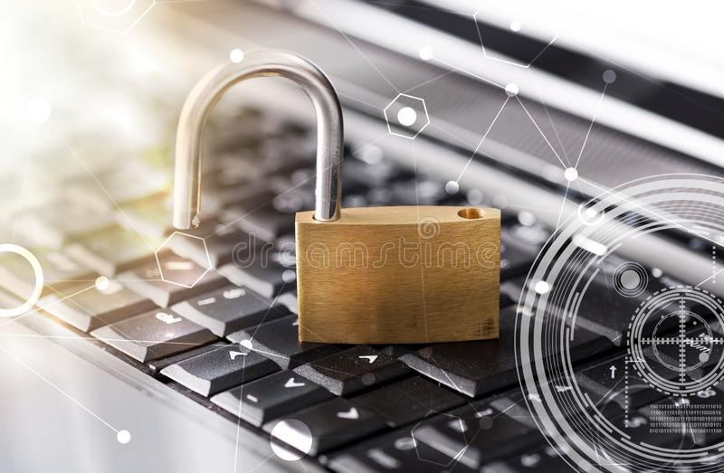 Concept of computer security, light effect royalty free stock photos
