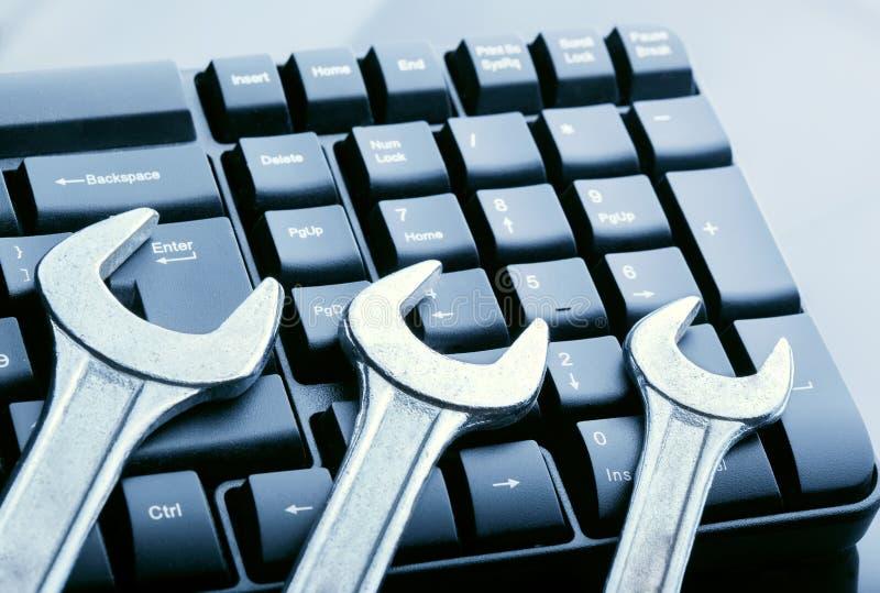 Concept computertechnologie royalty-vrije stock afbeelding