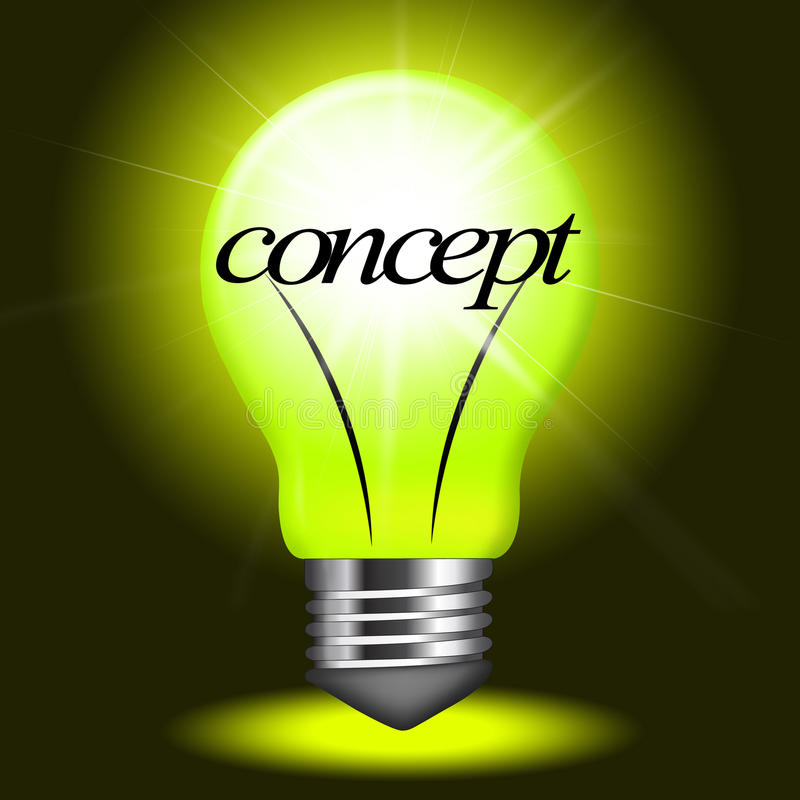 Concept Concepts Indicates Notion Think And Theory. Concepts Concept Showing Innovation Conceptualization And Thoughts royalty free illustration
