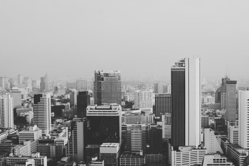 Concept concret du centre de jungle d'horizon de paysage urbain de bâtiment photos stock