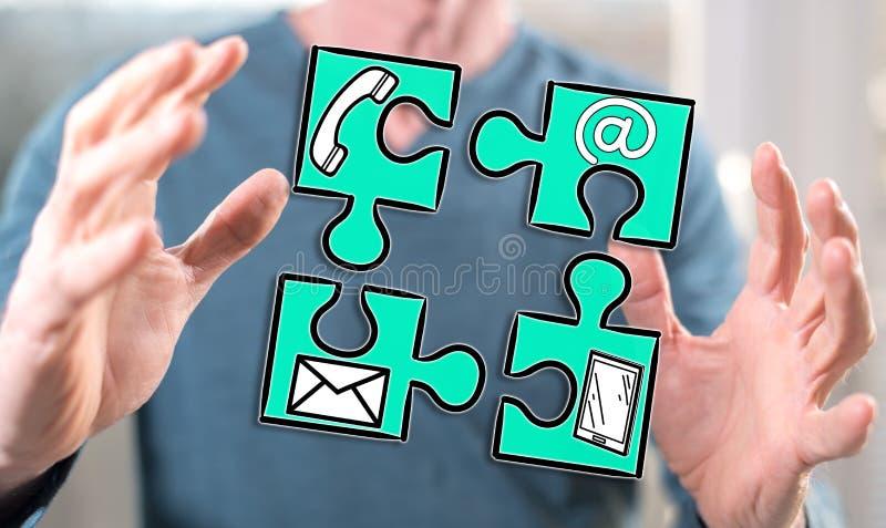 Concept contact stock afbeeldingen