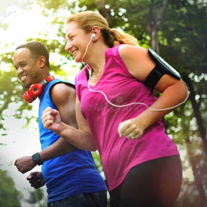 Concept convenable de cardio- de forme physique d'exercice de santé séance d'entraînement d'activité photos stock