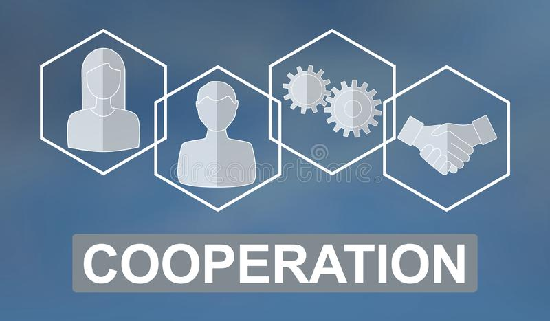 Concept of cooperation. Illustration of a cooperation concept vector illustration