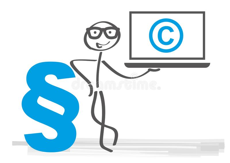 Concept of copyrighted material. Vector illustration stock illustration