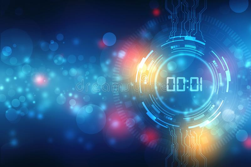 Concept and countdown, Abstract Futuristic Technology Background stock photography