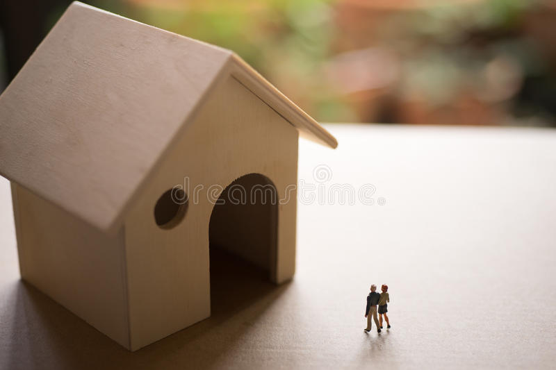Concept of couple life or real estate investment. stock image