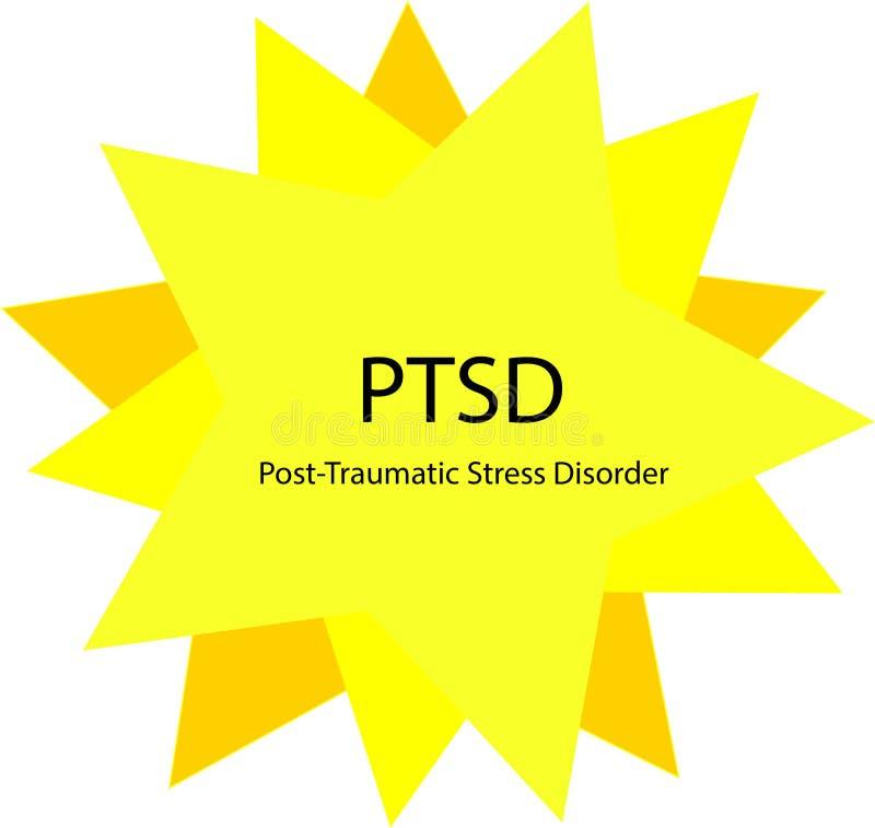 Concept Courrier-traumatique de santé mentale de désordre d'effort illustration stock