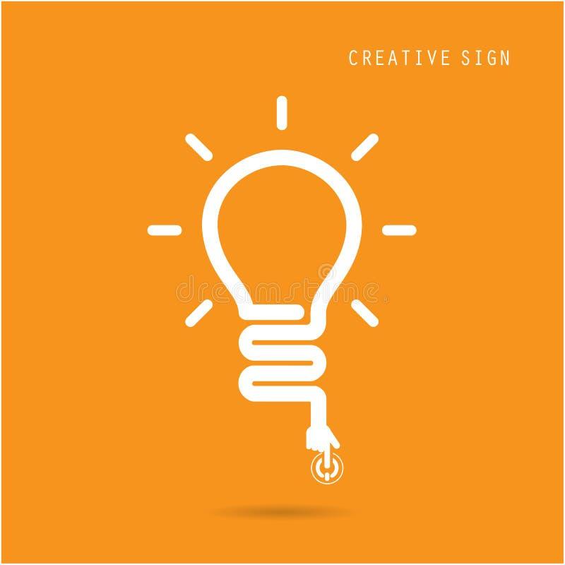 Concept créatif d'ampoule, conception pour le broch de couverture d'insecte d'affiche illustration de vecteur