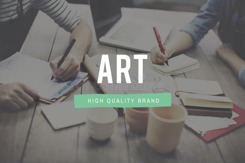 Concept créatif d'Art Style Impression Expression Imagination image libre de droits