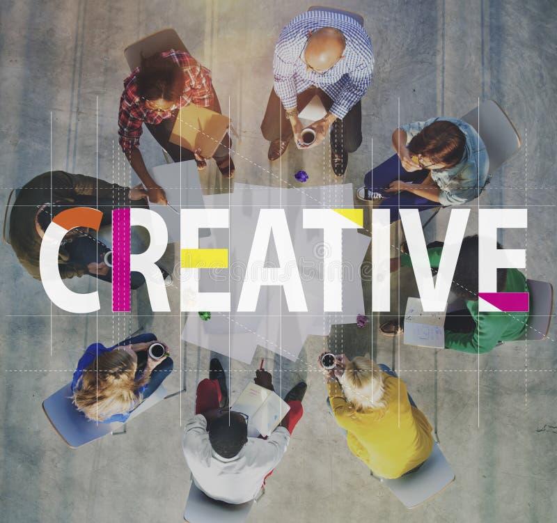 Concept créatif d'innovation d'imagination d'idées de conception images libres de droits