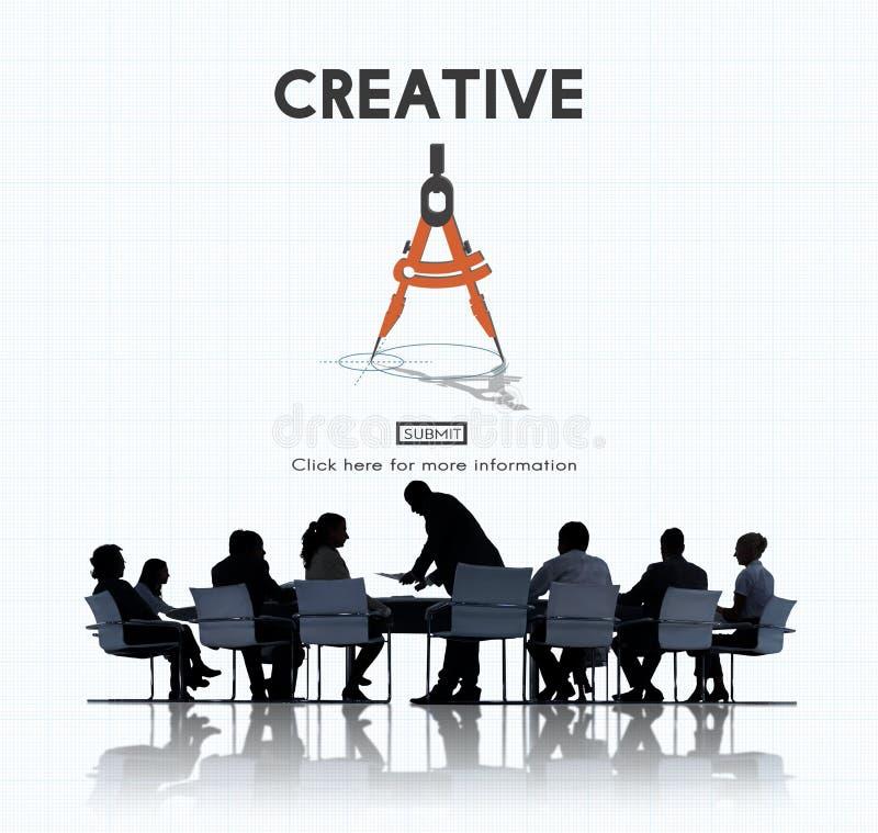 Concept créatif d'invention d'imagination de conception d'idées photos stock